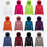 Women's Ultra Light Winter Warm Cosy Hooded Jackets - Size: S,M,L,XL,XXL,XXXL-Women's Tops-WickyDeez