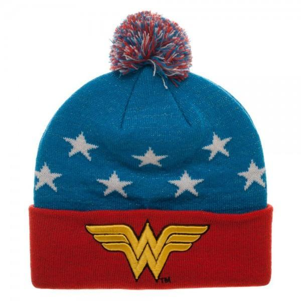 Wonder Woman 3D Embroidery Beanie-DC Comics Cosplay-WickyDeez