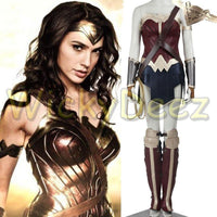 Wonder Woman Cosplay Adult Costume Diana Prince Justice League Dawn of Justice Suit Custom Costume-DC Comics Cosplay-WickyDeez
