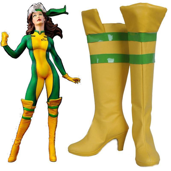 X-Men: Days of Future Past Rogue Cosplay Costume Shoe Boots-Marvel Comics Cosplay-WickyDeez