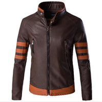 X-men Wolverine James Logan Howlett Cosplay Costume PU Leather Jacket-Marvel Comics Cosplay-WickyDeez