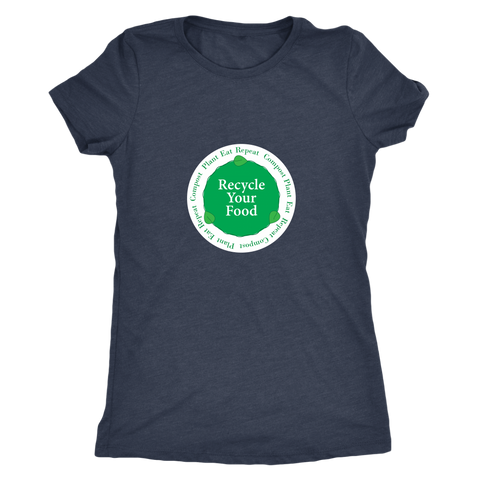 Recycle Your Food Ladies Vintage Tee