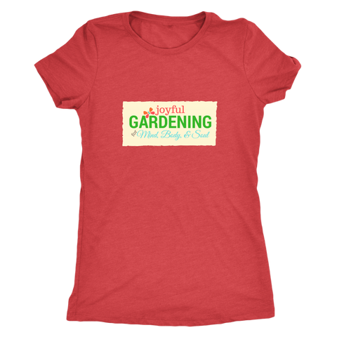 Joyful Gardening Ladies Vintage Tee