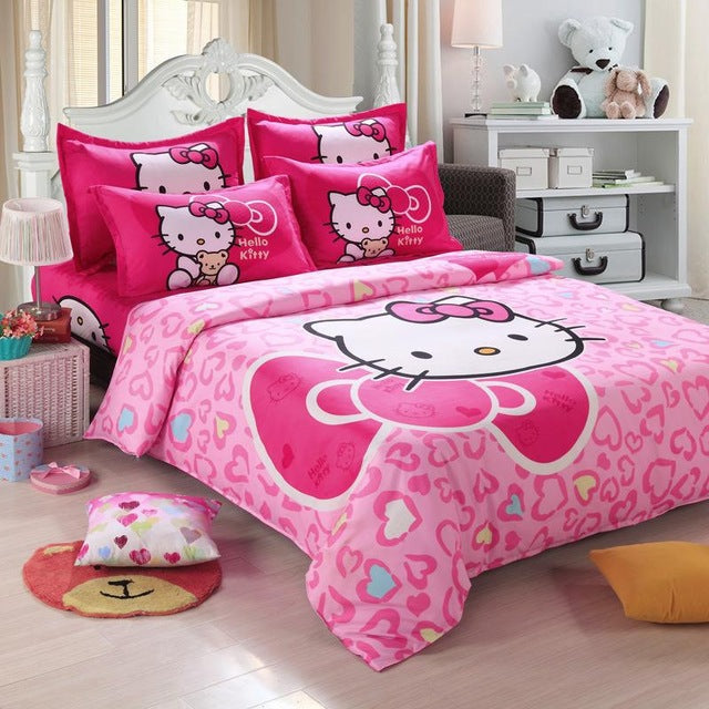 ... Home Textiles Bedclothes,Child Cartoon Pattern,Hello Kitty Bedding Sets  Include Duvet Cover Bed ...