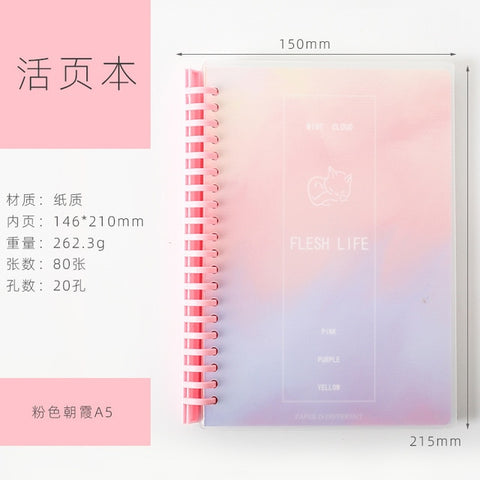 Loose-leaf Coil Colorful Notebook