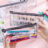 Cute Sayings Transparent Pencil Case