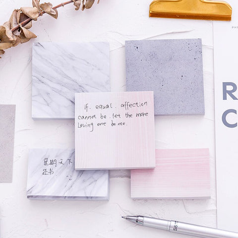 Marble Sticky Notes (6 sets)