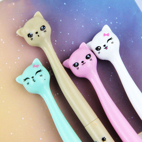 Kitty Cat Gel Ink Pen (4 per set)