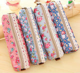 Retro Floral Pencil Case