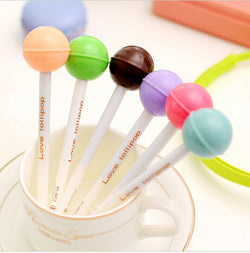 Lollipop Gel Ink Pens (6 per set)