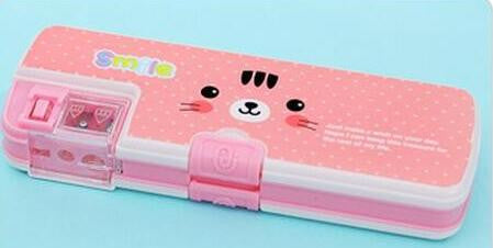 Smile Pencil Box With Sharpener