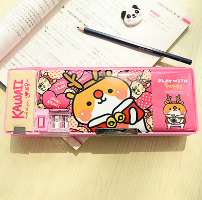 Kawaii Double Sided Pencil Box