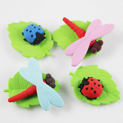 Lady Bug Dragon Fly Erasers
