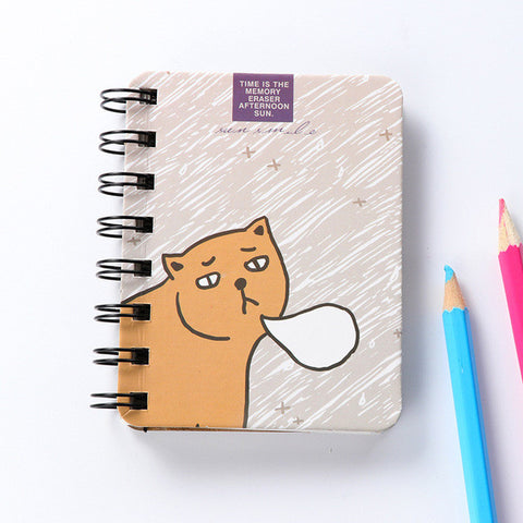 Mini Coil Notebook Cat