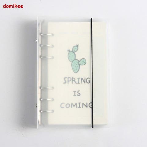 Clear Cover Blank Weekly Planner in Binder