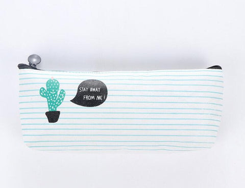 Green Cactus Pencil Bag