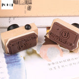 Mini Vintage Camera Wooden Stamp