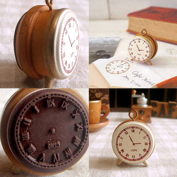 Retro Alarm Clock Stamp