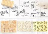 Mini Cute Cat rubber stamp set (12 pcs/et)