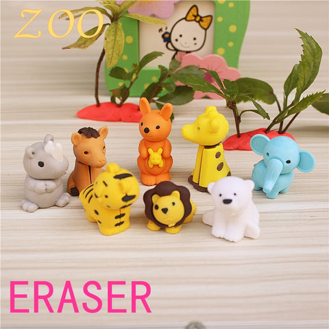 Cartoon Animal Eraser Kawaii Design