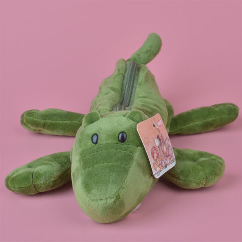 Green Crocodile Plush Pencil Case