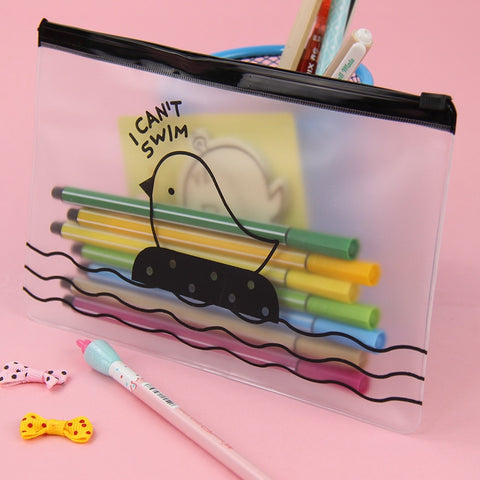 I Can't Swim Clear Pencil Case