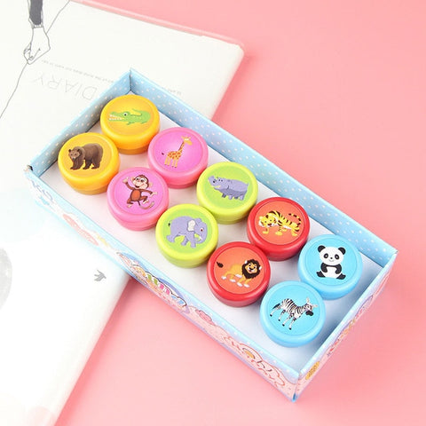 Cute Toy Stamps Cartoon Animals Fruits Vegetable (10/set)