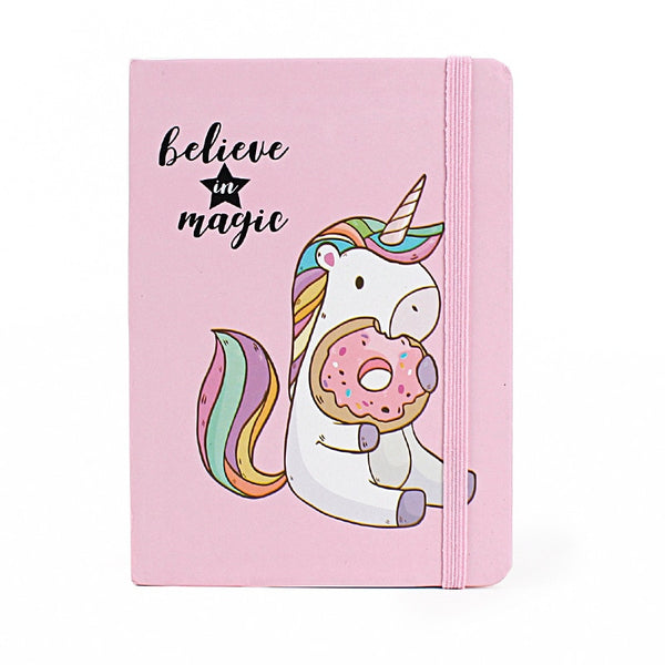 Believe In Magic Unicorn Donut Hardcover Bullet Journal