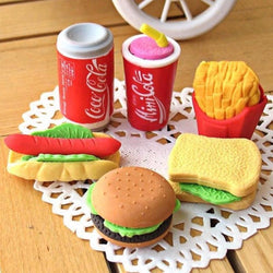 Fast Food Erasers (6 per set)