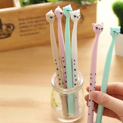 Cute Kitty Ink Gel Pen (4 per set)