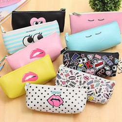 Modern Girl Leather Pencil Case Collection