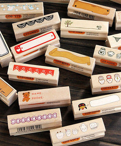 Wooden Rubber Stamp Collection