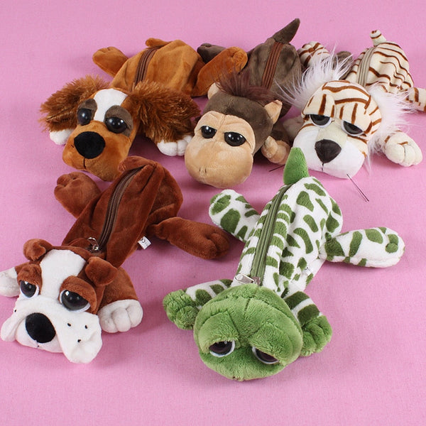 3D Plush Animal Pencil Case