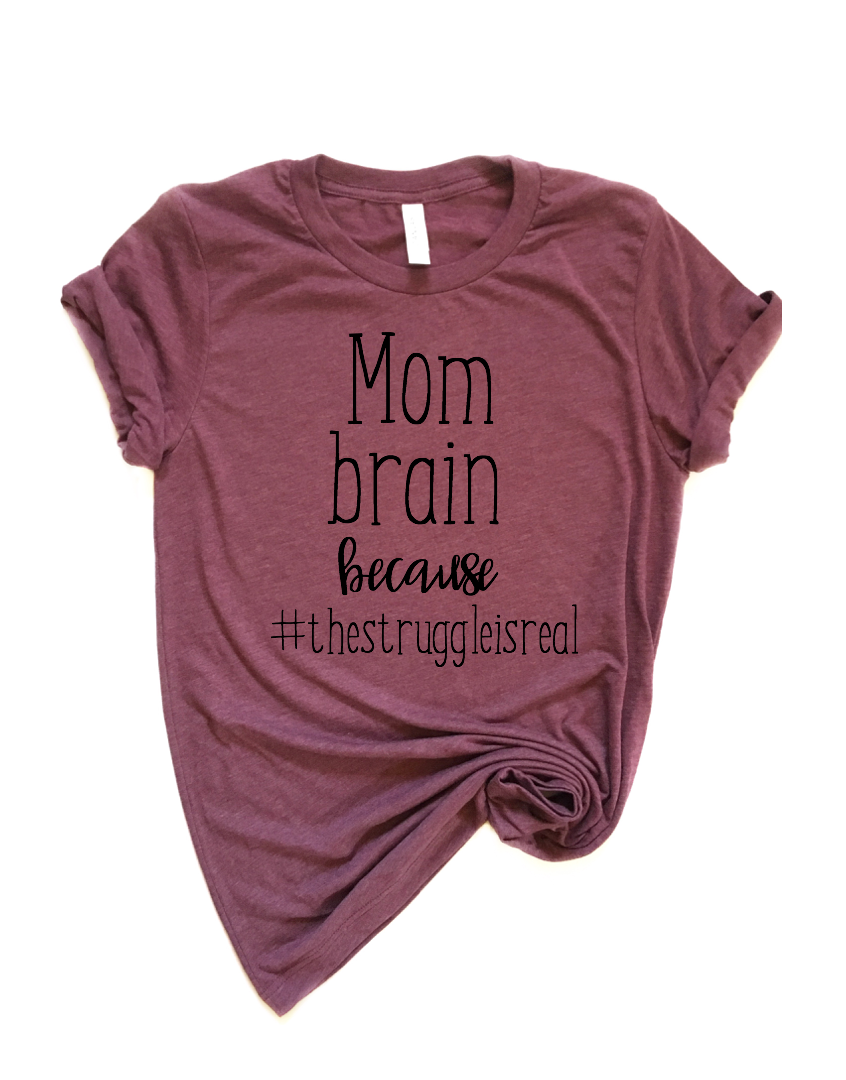 Retired Mom Brain Unisex Style Tee