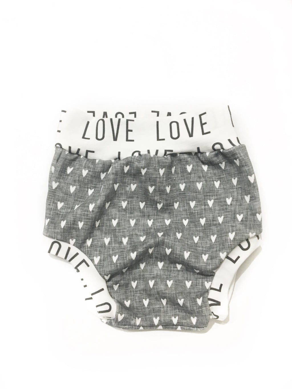 Gray Hearts Love Bloomers