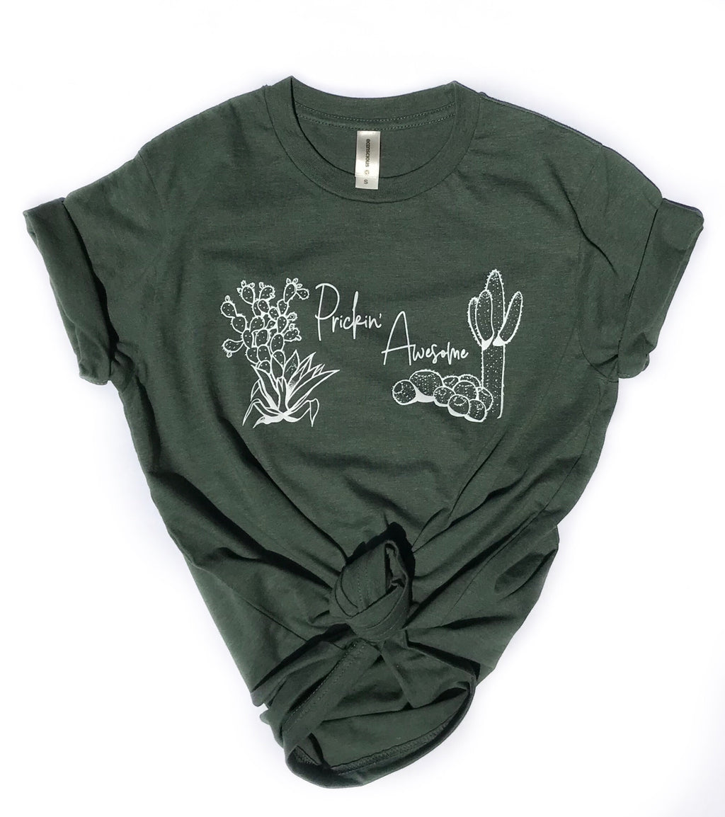 Prickin' Awesome Organic Cactus Tee
