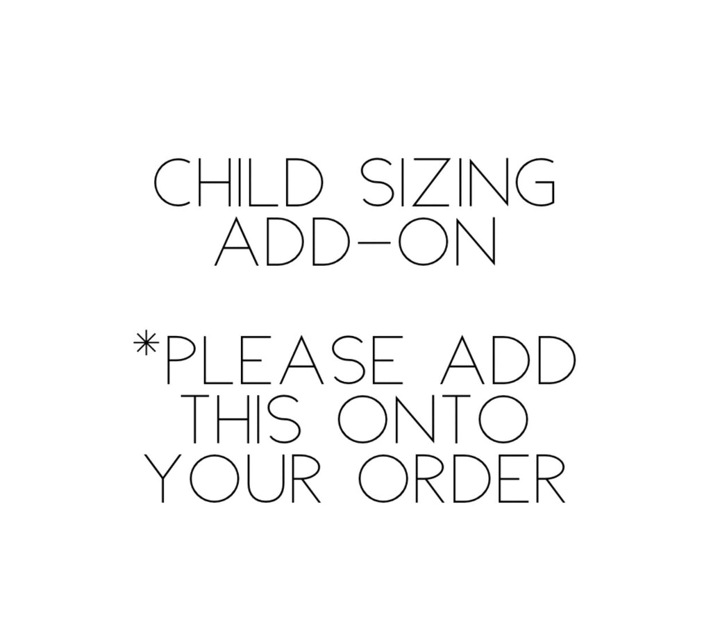 CHILD SIZING ADD-ON Photo Shoot - August 18