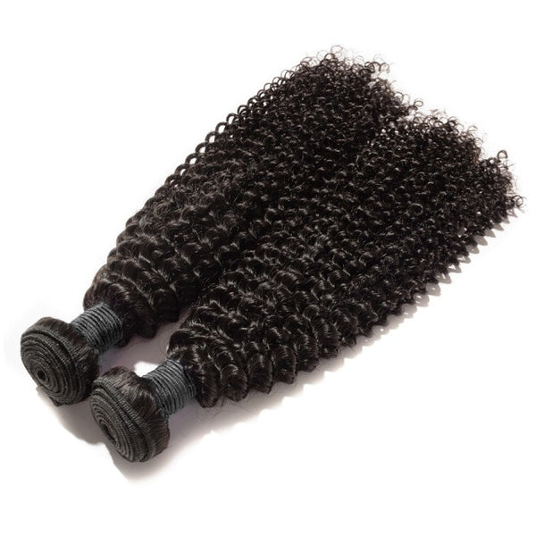 Indian Premium Virgin Hair - Kinky Curly 10-30 Inches Two Bundles