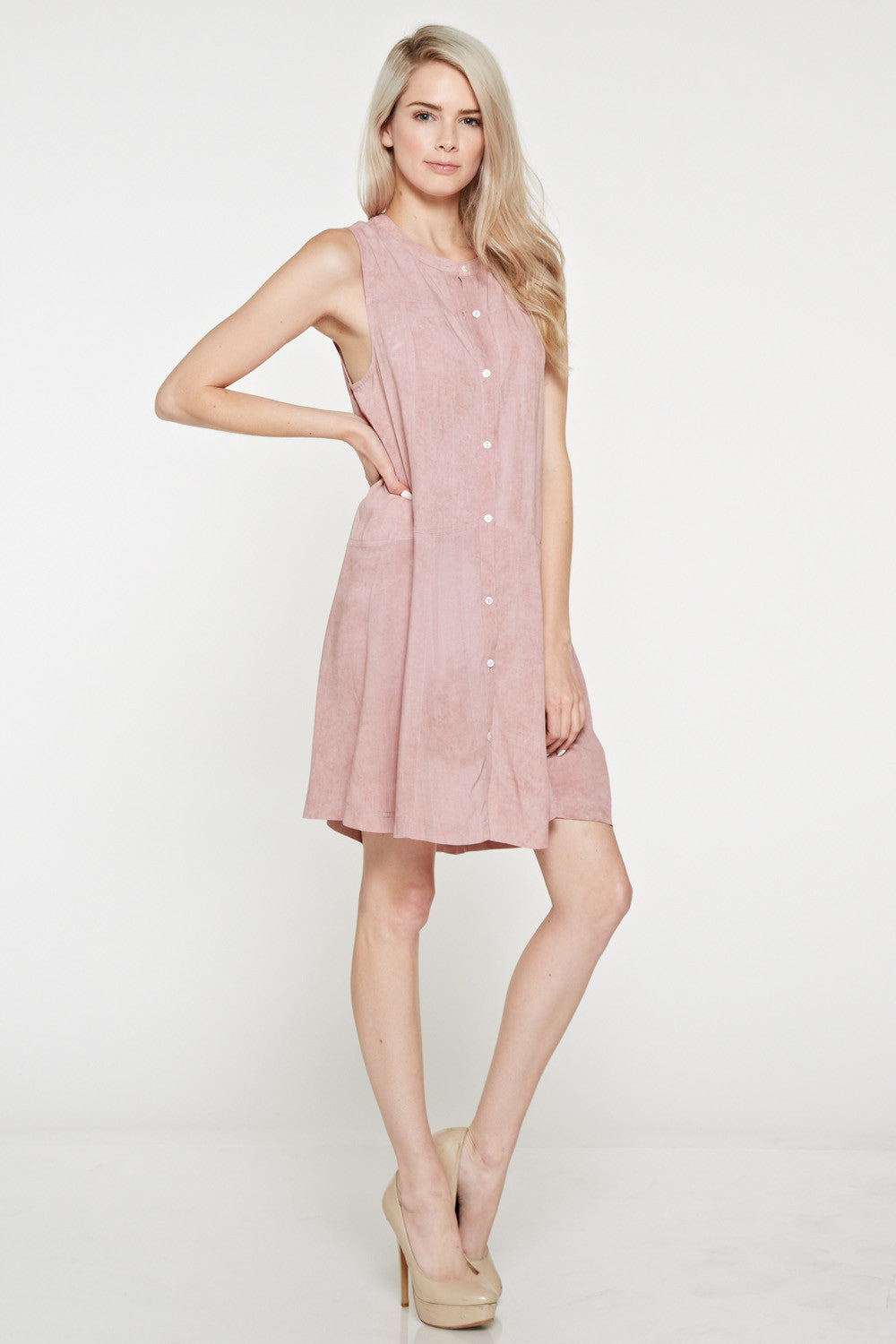 D5007 Denim Button up Dress