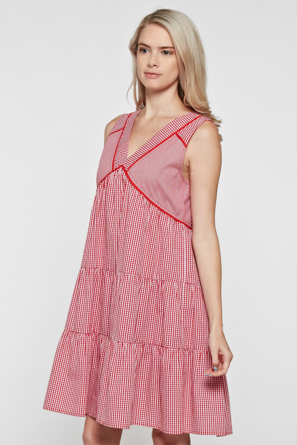 D5029 Plaid Dress