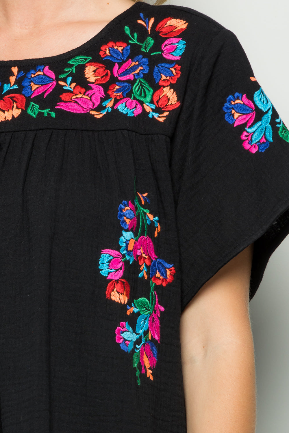 D5065 Embroidery Dress - Black