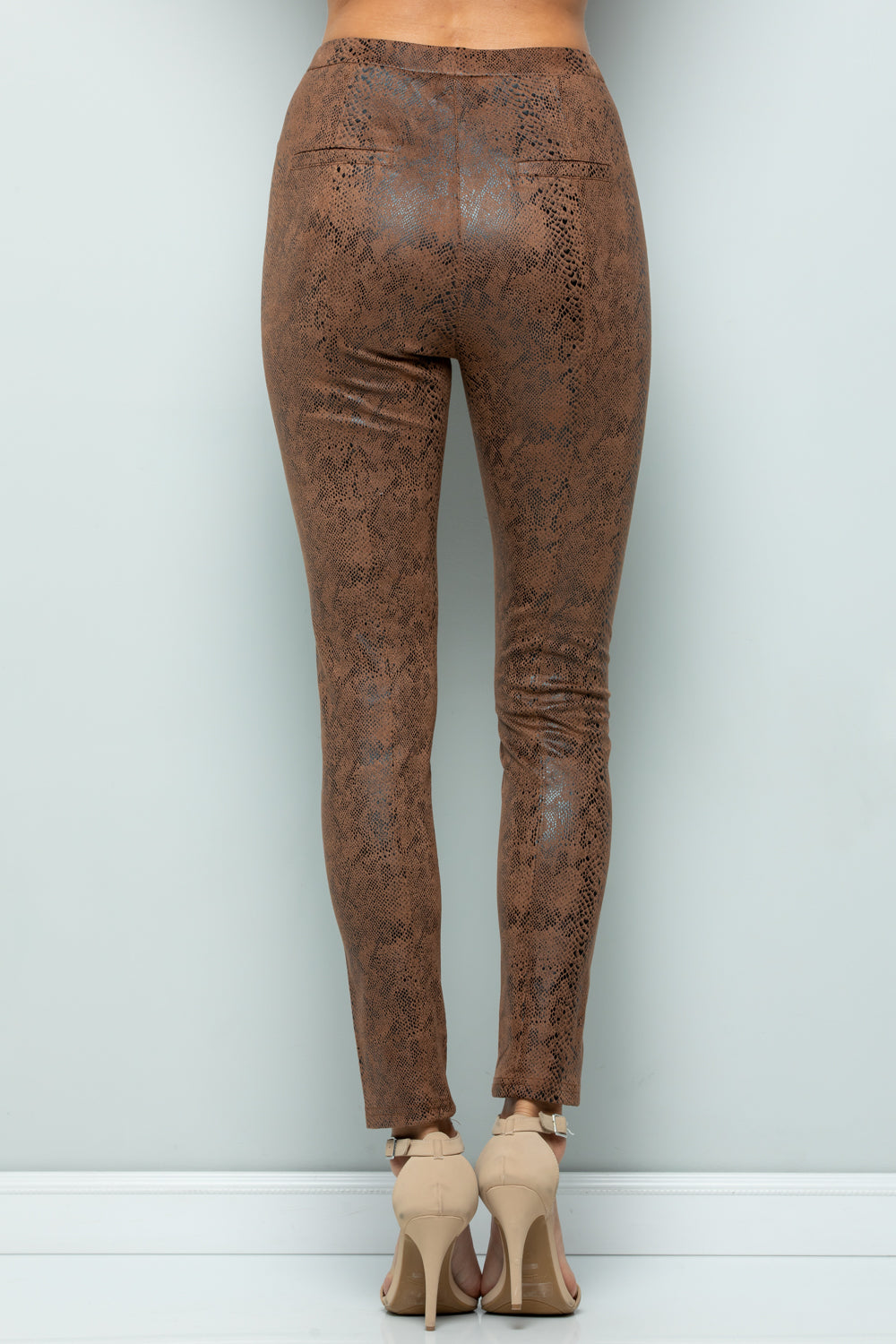 P7045 Snake Skin Leggings - MINT