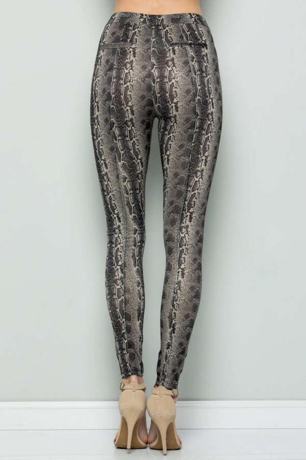 P7052 SNAKE SKIN THIN LEGGINGS