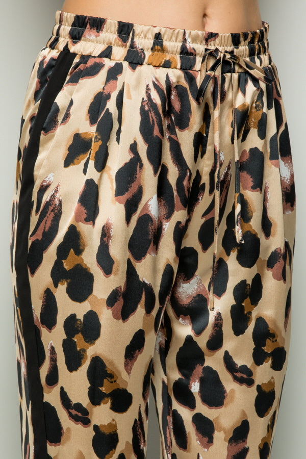 P7069  Print Pants - Brown