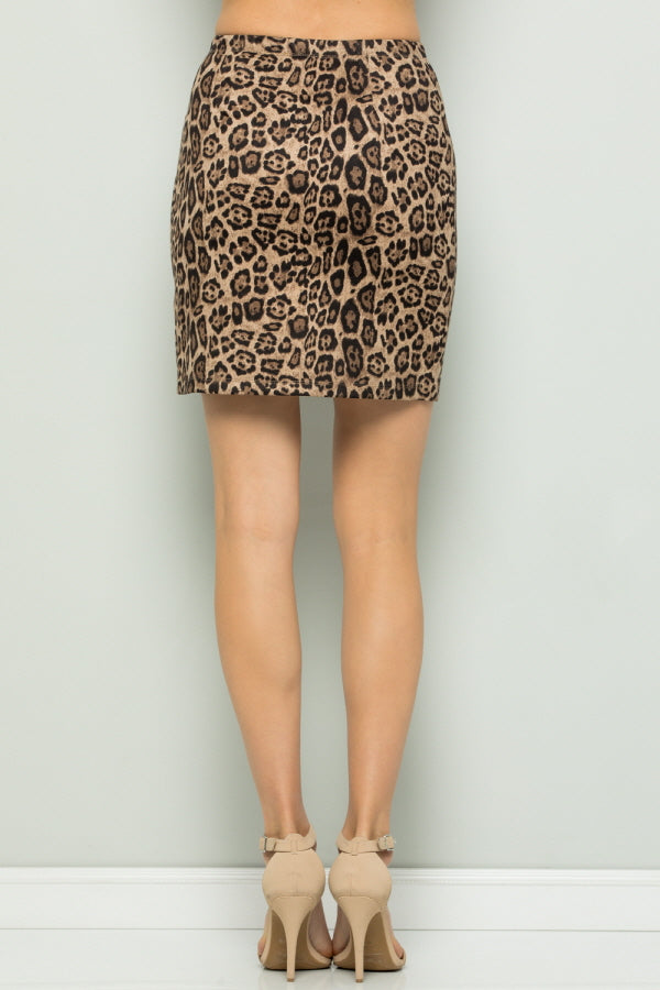 S9021 Animal Print Mini Skirts