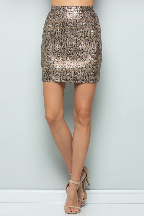 S9023 Sequins Stretch Skirt