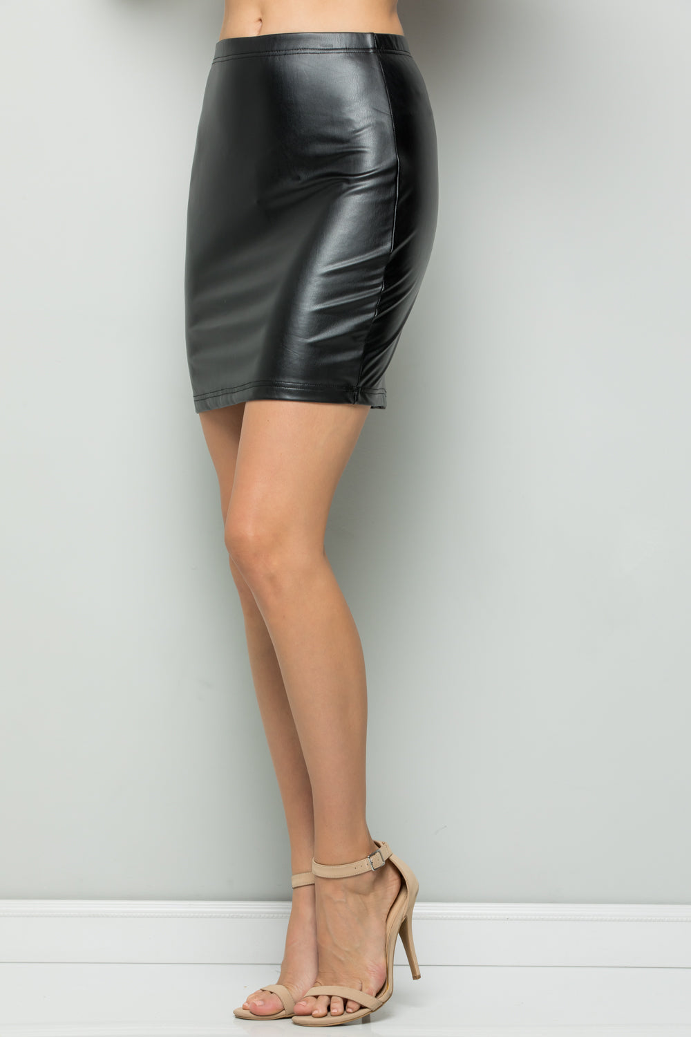 S9026 Faux Leather Skirts