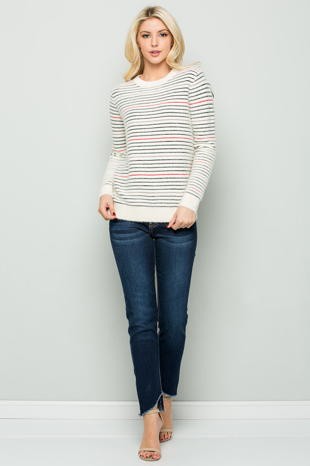 SW6060 Striped Soft Touch Sweater