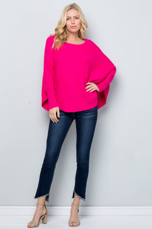 SW6112 Poncho Style Sweater Top