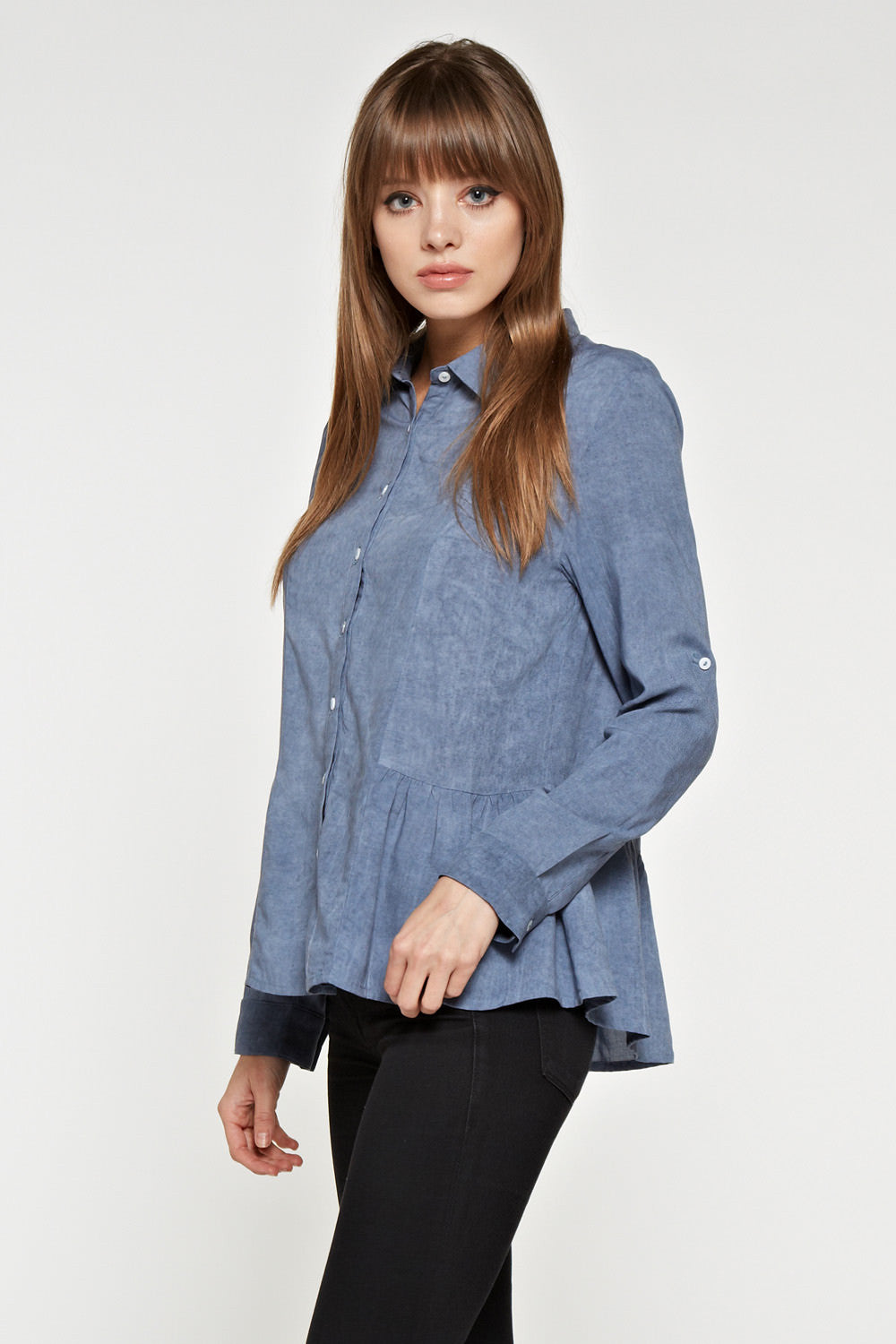 T2045 Basic Denim Shirts